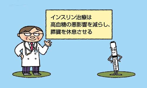 インスリン治療は高血糖の悪影響を減らし、膵臓を休息させる